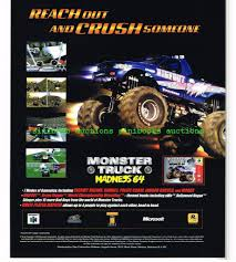 Monster Truck Madness 64 N64 Original Nintendo Magazine Advert ... Monster Truck Madness 7 Jul 2018 Truck Madness At Encana Northeast News Nvidia Nv1 Direct3d Hellbender Youtube Your Local Examiner Bristol Tennessee Thompson Metal July 17 Simmonsters Yumamcom 2 Pc 1998 Ebay Bigfoot Vs Usa1 The Birth Of History Gameplay Oldskool Hd 64 Foregames