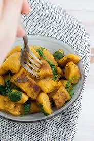 Pumpkin Gnocchi Recipe by Crispy Pumpkin Gnocchi Vegan Elephantastic Vegan