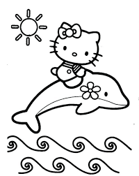 Free Cat Coloring Pictures Hello Kitty To Print Mermaid Pages Book