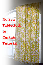 No Sew Curtains from a Tablecloth Poofy Cheeks