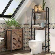 details zu toilettenregal badezimmerregal mit 3 ablagen waschmaschinenregal dunkelbraun