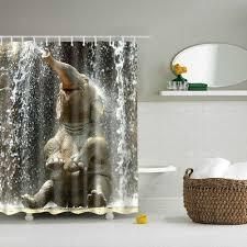 1xstoff duschvorhang lustig elefant badezimmer vorhänge trennwand 71