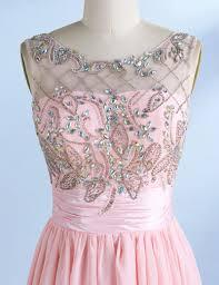 a line v back short pink chiffon homecoming dress with beading