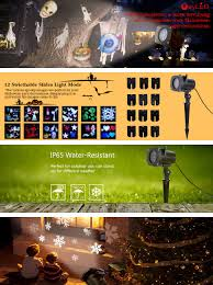 Halloween Yard Stake Lights by Oxyled Waterproof Led Projector Light With 12 Lighting Modes