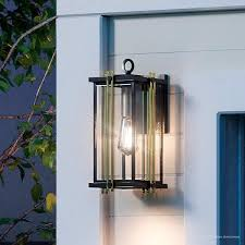 luxury transitional outdoor wall light 12 75 h x 6 25 w with