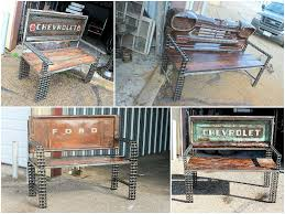 Vintage Truck Parts Transformed Into Benches • Recyclart