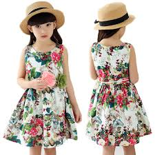 Girl Dress Cotton Floral New Summer Style 2017 Fashion Princess Kids Clothes Children Party Dresses