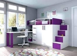 chambre enfant avec bureau lit bureau fille lit mezzanine 1 place bureau integre lit