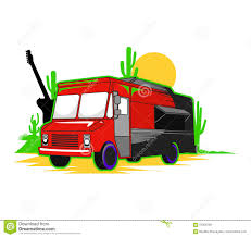 Mexican Food Truck Stock Vector. Illustration Of Cactus - 97000758