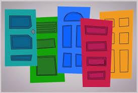 Door clipart monster Pencil and in color door clipart monster