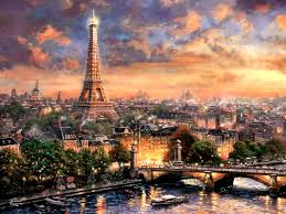 Paris City Love Cityscape France Scenery Painting Art Artwork Wide Screen Architecture 1080p Wallpaper