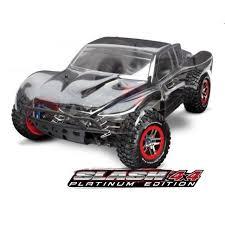 100 Rc Truck 4x4 Traxxas Slash 4X4 Platinum 110 Scale 4WD SC TRA6804R RC Planet