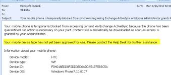 Preventing New ActiveSync Devices from Connecting to Exchange 2010