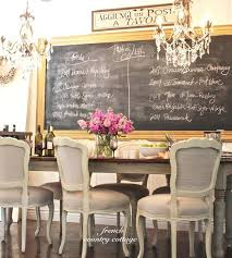 French Country Dining Room Decorating Ideas Chandeliers Design For The Love Of Chalkboards