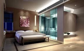 Master bedroom design rendering with toilet
