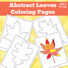 Abstract Leaves Coloring Pages