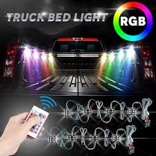 LED Truck Bed Lights 2Pcs LED Rock Lights 48 LEDs RGB Truck Bed ... Aura Led Truck Bed Strip Lighting Kit Rgbw Multicolor Full 2 X 60 Smart Rgb Lights W Soundactivated Function Truxedo Blight Battery Powered Light Bluewater Under Rail Standard Bw Heavy Hauler 2pcs Rock 48 Leds 8 White Square Switch Xprite How To Install Access Youtube Multi Color Super Bright Work 8pcs 2009 2014 Ingrated F150ledscom Amazoncom Homeyard 2pcs Tailgate Cargo 8pc Waterproof Pickup Accsories