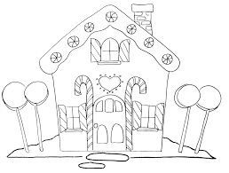 Gingerbread House Coloring Pages Free Printable Snowflake For Kids Pictures