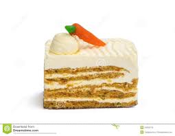 Piece of Carrot Cake on White Background
