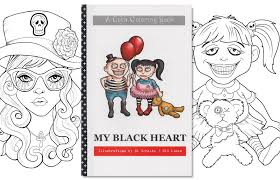 Adult Coloring Book Goth Girls Gothic Pages Cute Goths Lineart Alternative