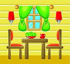 Dining Room Table Interior On Clipart Images