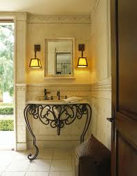 Lovely Wrought Iron Wall Decor For Outdoors Decorating Ideas Gallery In Powder Room Traditional Design