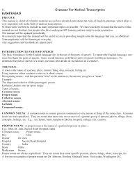 Medical Transcription Resume Samples For Sample Examples