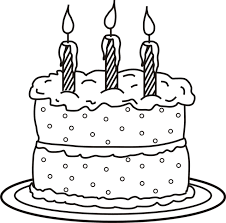 Birthday Cake Coloring Sheets