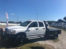 100 Dodge Dually Trucks For Sale 2007 Dodge Ram 3500 Crew Cab Flatbed Truck For Sale