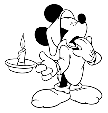 Mickey Mouse Is Very Sleepy Coloring Pages