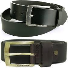 alpine swiss men u0027s belt 35mm casual jean genuine leather dakota