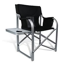 Portable Directors Chair by High Comfort Padding Director Aluminum Folding Chair With Armrest