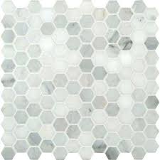 Shower Floor Mosaic Tile Tile The Home Depot White Mosaic Floor