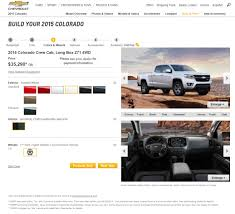 2015 Chevy Colorado Build & Price Tool Now Available - News - GM ... 2019 Chevrolet Silverado 30l Duramax Inlinesixturbodiesel Chevy Build Your Own Configurators Ray Fx Allnew Pickup Truck Luxury 2005 1500hd Chevys Making A Hydrogenpowered For The Us Army Wired Convert To Flatbed 7 Steps With Pictures Custom Dave Smith Best Of Legacy Napco Cversion 1972 C10 R Project Be Spectre Performance Sema 2017 Simplebuilt 1958 Apache Farm Chevrolets Big Bet The Larger Lighter Carrevsdailycom Valvoline Reinvention Trucks Hendrick