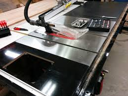 Sawstop Cabinet Saw Dimensions by Table Saw Enhancement Attaching Sliding Crosscut Table Without