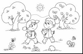 Terrific Fall Coloring Pages For Kids With Kindergarten And