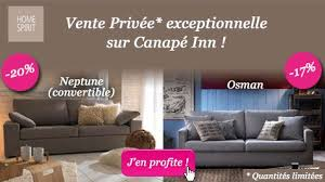 vente privée canapé vente privée jusqu à 20 sur votre canapé home spirit