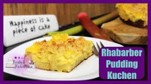 rhabarber pudding kuchen i zuckerfrei i gesund i high protein