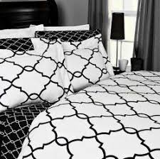 Metro Hotel Style Black and White Mosaic Duvet Cover Set