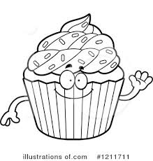 Cupcake Clipart Black And
