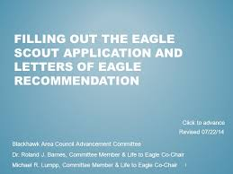 FILLING OUT THE EAGLE SCOUT APPLICATION AND LETTERS OF EAGLE