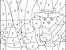 Color By Code Worksheets Number Free Kindergarten Of Love