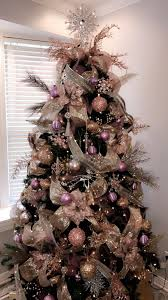 Rose Gold And Silver Christmas Tree Type Of Purple Decorations
