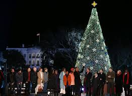 Obama Family Lights The White House Christmas Tree AOL News