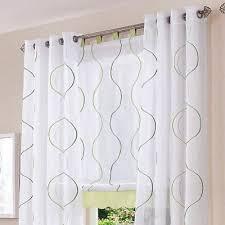 gardinen wohnzimmer vorhänge weiß dekogardinen dekoschals