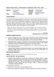 Kieran Ryan CV Business Development Executive Pre Sales Engineer BSc Information Systems BA Hon Law