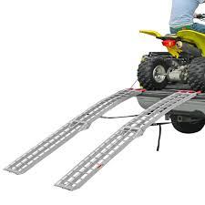 Aluminum Folding Arched Dual Runner ATV Ramps - 7'5