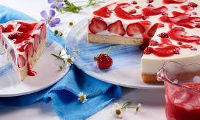 joghurt panna cotta erdbeer torte