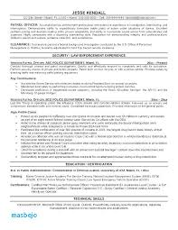 Police Chief Resume Examples Samples Ficer Retired