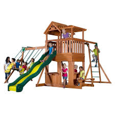 Backyards: Gorgeous Backyard Wooden Swing Sets. Backyard Ideas ... Backyards Gorgeous Backyard Wooden Swing Sets Ideas Discovery Montpelier All Cedar Playset30211com The Set Accsories Monticello Walmart Itructions Big Appleton Wood Toys Photo With Amazing Unbeatable For Solid Fun Image Happy Kidsplay Clearance Playsets